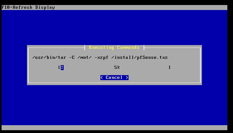 Bei der Installation werden die Filesysteme neu formatiert - daher vorher Daten sichern!