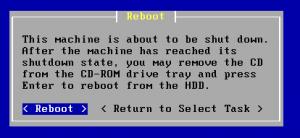 Am Ende der Installation folgt der obligatorische Reboot