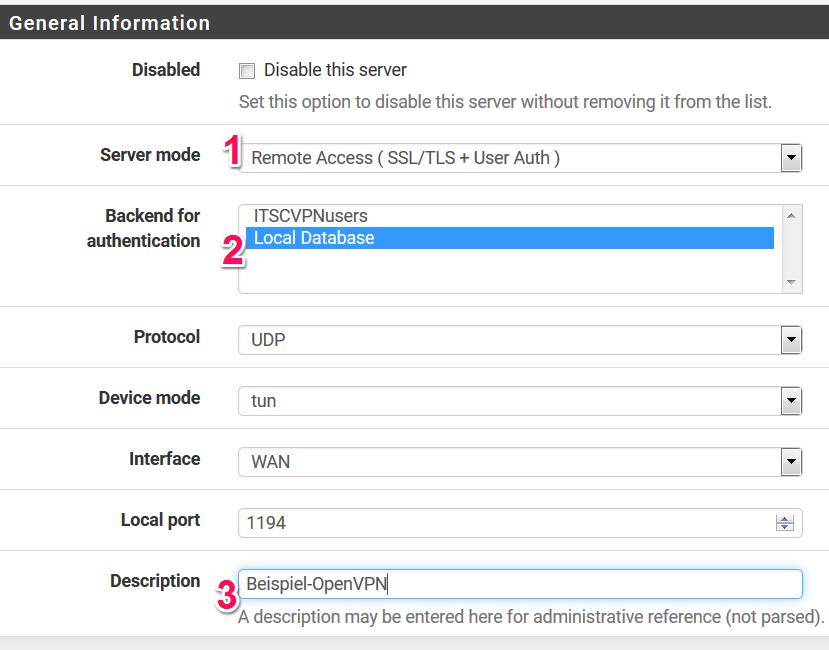 OpenVPN Server auf der pfsense Firewall erstellen