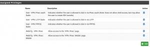 Berechtigungen der Benuzter-Gruppe für den VPN-Zugriff