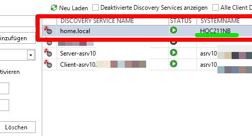 Die Verbindung zum Dokumentations-Server von docusnap prüfen